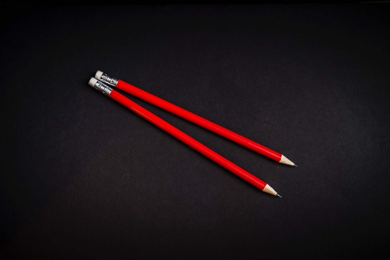 Red pencils small